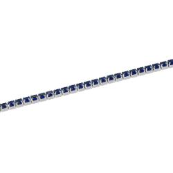 Bratara argint zirconiu tenis albastru