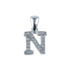 Pandant argint litera N