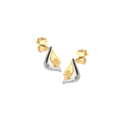 Cercei aur 14K abstract