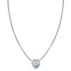 Lant argint zirconiu inima