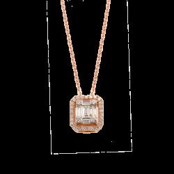 Lant aur 18K cu diamante 0.28 G VSSI