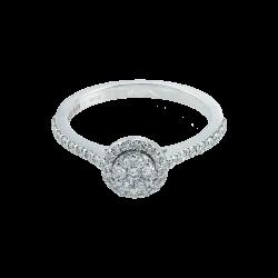 Inel aur 18K cu diamante 0.41 G VS