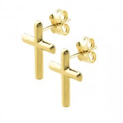 Cercei aur 14k cross