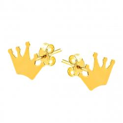 Cercei aur 14K Kocak galben   coroana