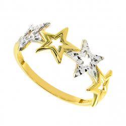 Inel aur 14k stars