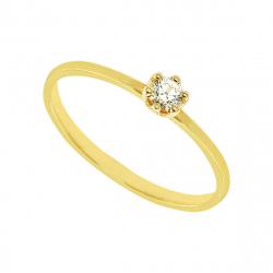Inel aur 18K cu diamant 0.15 G SI
