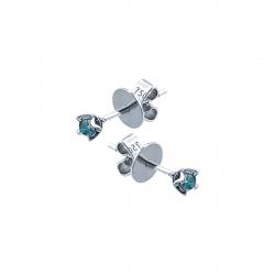 Cercei aur 18K cu  diamant albastru BL 0.1