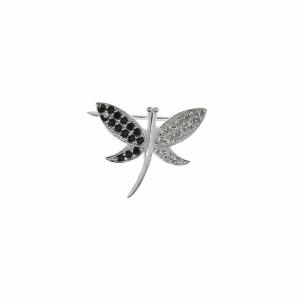 Brosa argint libelula pietre zirconiu - 646487