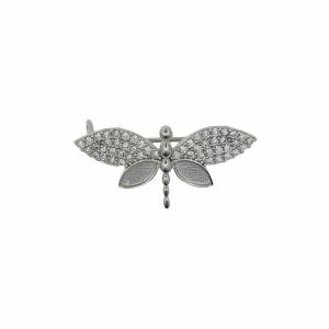 Brosa argint libelula pietre zirconiu - 646463