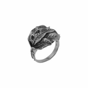 Inel argint frunza vintage - 648870
