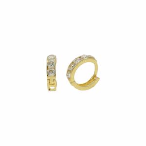 Cercei aur 14k copii pietre zirconiu