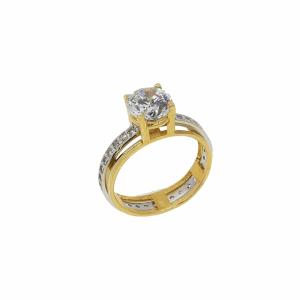 Inel de logodna aur 14k zirconiu