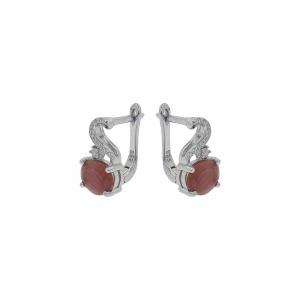 Cercei argint rubin - 649389