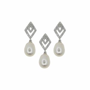 Set argint perle - 639328