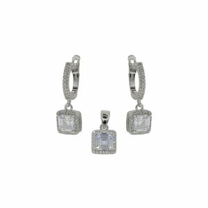Set argint zirconiu - 640829