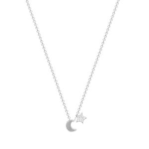 Lant argint zirconiu luna&stea