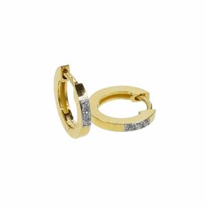 Cercei aur 18k cu diamante 0.04 G SI pentru copii