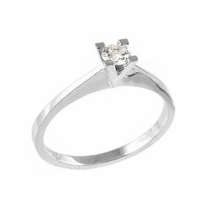 Inel logodna din aur 18K cu diamant, 0,05 H SI
