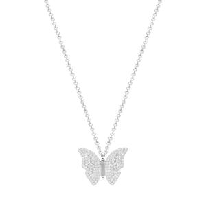 Lant argint zirconiu butterfly