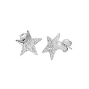 Cercei argint zirconiu stella