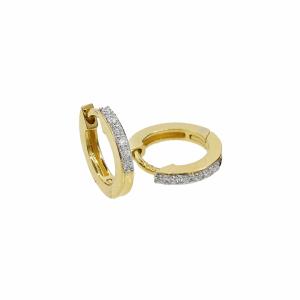 Cercei aur 18k cu diamante 0.08 G SI pentru copii