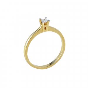 Inel logodna aur 18k cu diamante 0.08 G SI
