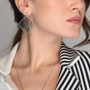 Cercei argint geometrici - 573509*