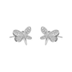 Cercei argint shine butterfly