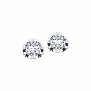 Cercei aur 18K cu diamant 0.09 G SI