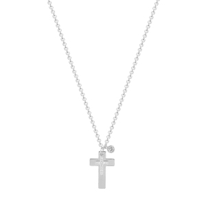 Lant argint zirconiu cross