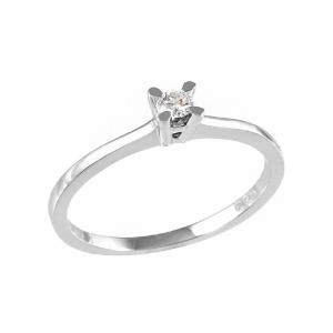 Inel logodna din aur 18k cu diamant 0.05 G SI