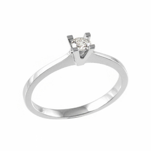 Inel logodna din aur 18K cu diamant, 0,09 G SI