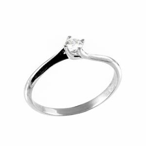 Inel logodna din aur 18K cu diamant, 0,15 G SI