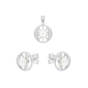 Set argint mix perla