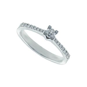 Inel logodna aur 18K cu diamant 0.17 G SI