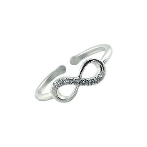 Inel argint zirconiu infinit