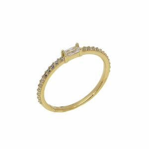 Inel aur 14K zirconiu elegant