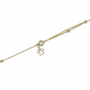 Bratara aur 14k zirconiu bleu elegant