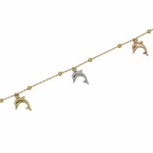 Bratara aur 14k elegant delfin