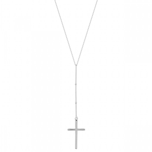Lant argint pandantiv cruce
