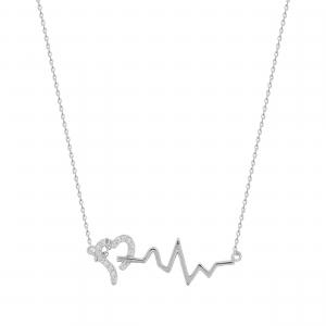 Lant argint pandantiv zirconiu puls 0519/MB/MS
