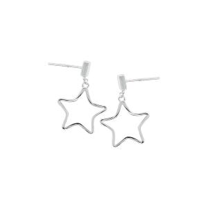 Cercei argint stele geometrici