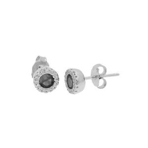 Cercei argint zirconiu hera -  Zirconiu Negru
