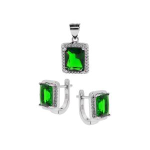 Set argint zirconiu serra -  Argint Zirconiu Verde