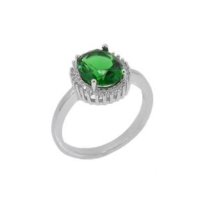 Inel argint zirconiu nova -  Argint Zirconiu 19 Verde