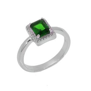 Inel argint zirconiu serra -  Argint Zirconiu 20 Verde