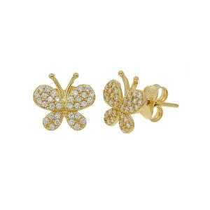 Cercei aur 14K butterfly