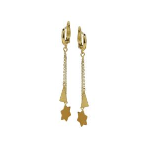 Cercei aur 14K shapes