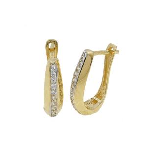 Cercei aur 14K eleganti