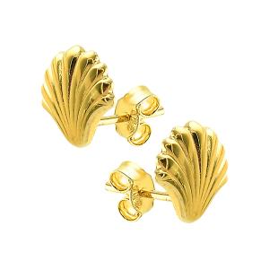 Cercei aur 14k seashell